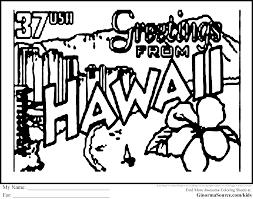 Hawaiian Flag Hawaii Coloring Pages Printable Many Interesting Cliparts