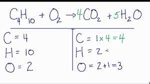 how to balance c4h10 o2 co2 h2o ne combustion reaction you