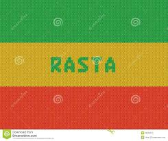 Rasta Flags Rasta Background Wicker Rasta Flag Stock Illustration