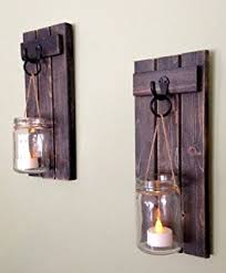 Flameless Candle Wall Sconce Candle Wall Sconce Set Of 2 And Classic Pillar Real