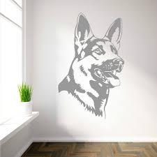 german shepherd alsation dog vinyl wall art sticker decal ebay
