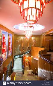 interior design of maratha mandir theatre bombay mumbai stock