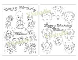 happy birthday paw patrol coloring page paw patrol birthday party favor paw patrol coloring pages