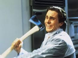 Christian Bale Axe Meme - patrick bateman with an axe know your meme
