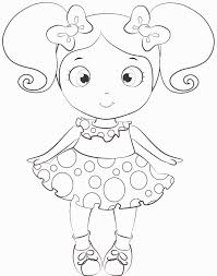 doll coloring page youtuf com