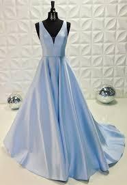 light blue dress satin light blue prom dresses 2018 v neck evening gowns
