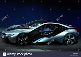 Bmw I8 Electric - a bmw i8 stands on stage during the presentation of the bmw