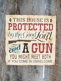 rustic home decor gun sign rustic gun sign good lord and a gun 2nd
