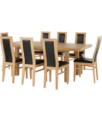 Extending Dining Table And 8 Chairs Buy Collection Ella Ext Dining Table And 8 Chairs Oak Black At