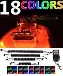 pontoon boat led light kits 8 strip color changing boat led interior neon light kit for yacht