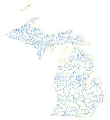 Detailed Map Of Michigan List Of Rivers Of Michigan Wikipedia