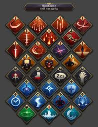 mobile rpg ui u0026 skill icon on behance game interface and design