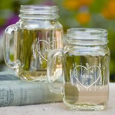 jar wedding mr and mrs rustic wedding toasting glasses jars
