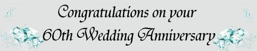 Congratulations Wedding Banner 60th Diamond Wedding Anniversary Banner Banners And Balloons