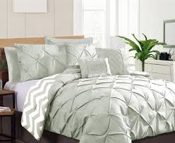 Pinched Duvet Cover 7 Piece Pinch Pleat Comforter Set Ramesses Hometarget