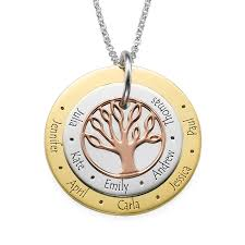 personalized family tree necklace 3 colors personalized family tree necklace forevermom