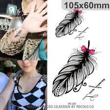tattoo bulu 3d waterproof temporary tattoo sticker villus feather tattoo on chest