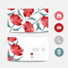 ã karten design öl gemalt visitenkarte vorlage mit roten design element