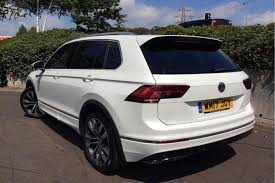 volkswagen suv white find a used white vw tiguan 2 0 tdi 240ps 4wd r line 4motion bmt
