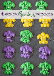 mardi gras cookies mardi gras fleur de lis spritz cookies bake give