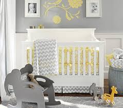 Yellow And Gray Crib Bedding Set Baby Bedding Set Pottery Barn