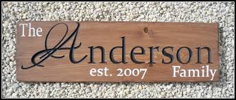 family wood last name sign family name sign engraved wood sign