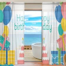 Sheer Door Curtains Aliexpress Com Buy Sheer Door Curtain Panels W55x L78 Inch