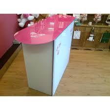Standing Reception Desk by Bespoke Glass Reception Desk Futureglass