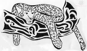lazy jaguar tribal design