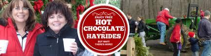 free chocolate u0026 hayrides hidden pond tree farm