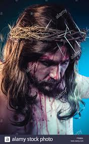 jesus christ representation of calvary on the cross with crown of