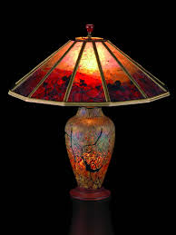 Glass Table Lamp Shades Lindsay Art Glass Table Lamp And Mica Lamp Shade Red Vines Sue