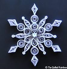 quilled snowflake handmade christmas ornament by thequilledrainbow