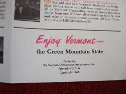 Vermont travel brochures images Nice vintage group of travel brochures new york new england jpg