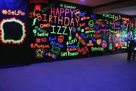 blacklight party supplies interior design neon themed decorations home design ideas interior