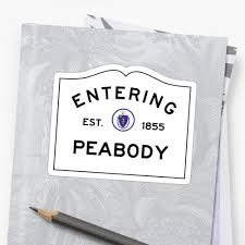 entering peabody commonwealth of massachusetts road sign entering peabody commonwealth of massachusetts road sign by intwanderer
