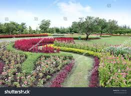 flowers garden city colorful flower garden flowers all beautiful stock photo 211970428