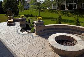 Brick Patterns For Patios Brick Paver Patio For Home Brick Fire Pit With Brick Seating Wall