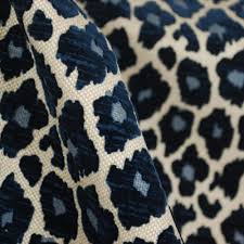 Upholstery And General Simba Navy Blue Chenille Upholstery Fabric Cheetahs Upholstery