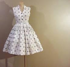 Nautical Dress Theme - 50s nautical theme full skirt dress pretty sweet vintage
