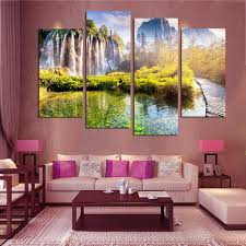 Waterfalls For Home Decor Online Get Cheap Animated Waterfalls Wall Art Aliexpress Com
