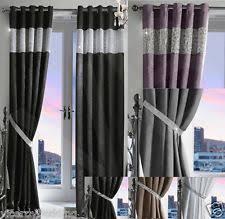 Glitter Curtains Ready Made Diamante Curtains Luxury Curtains Ebay