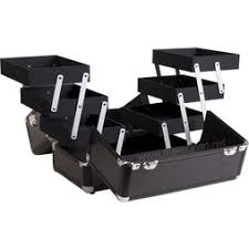 Makeup Chairs For Professional Makeup Artists Bold Cosmetic Train Case With 3 Tier Trays U0026 Center Storage All