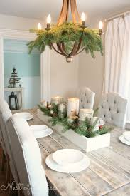 dining table christmas decorations christmas tour farmhouse table with birch candles
