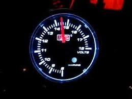 auto gauge volt meter youtube