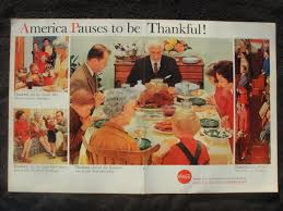 coca cola soda ad thanksgiving advertisement 1959 for sale