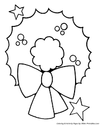 easy pre christmas coloring pages christmas wreath