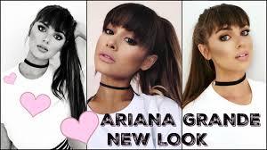 new hairstyle look 2016 ariana grande makeup tutorial 2016 new bangs u0026 full glam look