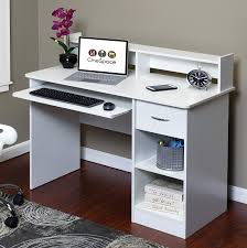 Pull Out Table Amazon Com Onespace 50 Ld0101 Essential Computer Desk Hutch With