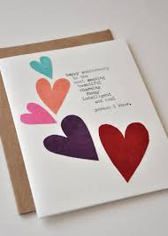 handmade hearts birthday card for boyfriend or husband with lovely